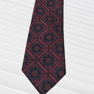 Christian Dior Men's Red and Blue Tie
